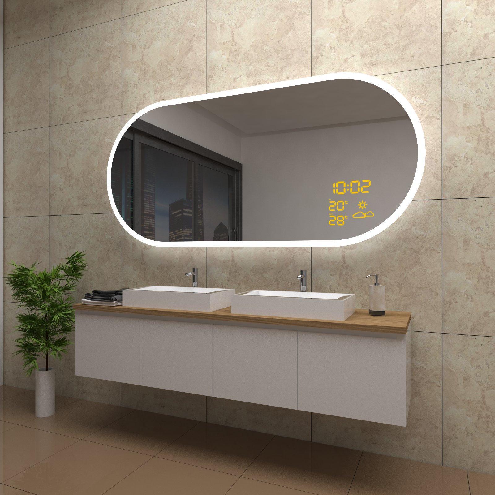 spiegel-holly-mit-led-beleuchtung-und-wetterstation-inkl-uhr-beschlagfrei_800x800@2x Spannende Spiegel Mit Led Beleuchtung Dekorationen